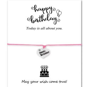 Jewelry - Happy Birthday bracelet, make a wish jewelry